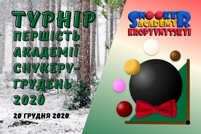 Першість Академії снукеру Кропивницький - січень 2021